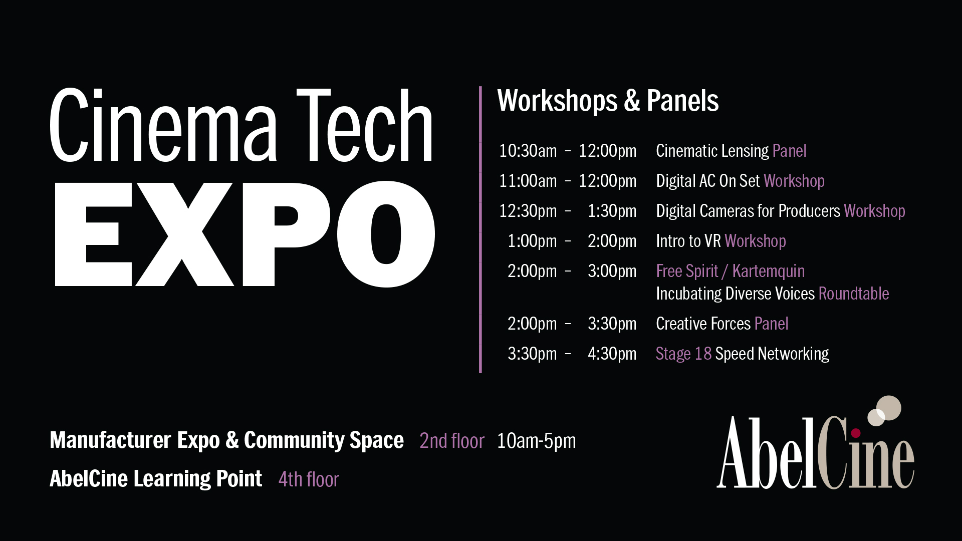 Chicago Cinema Tech Expo Schedule